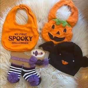 Halloween costume hat bib newborn photo bundle